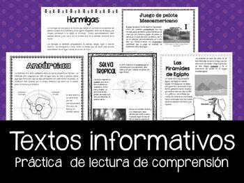 Lectura de comprension - texto informativo