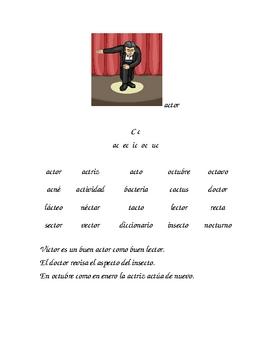 Lectura de silabas indirectas