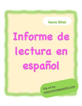 Lectura en español (Spanish Reading Log)