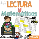 Lectura, escritura y matemáticas PRIMERO NO PREP