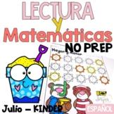 Lectura, escritura y matemáticas NO PREP KINDER