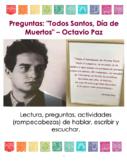 Lectura y Actividades | Todos Santos, Día de Muertos de Octavio Paz