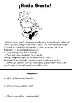 Lectura y comprensión/ Historias ocurrentes de Santa
