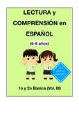 Lectura y comprensión. Lenguaje en Español. (6-8 años) 1º,