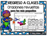 Oraciones revueltas para los más pequeños - Regreso a clase  ¡GRATIS!