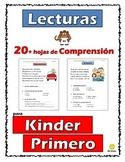 Reading Comprehension Passages Kinder-1st Grade (Lecturas en Español) Parte 2