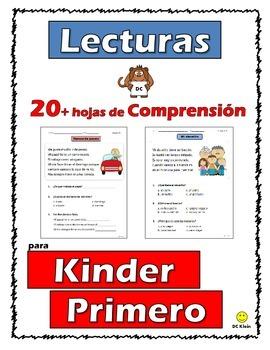 Reading Comprehension Passages Kinder-1st Grade (Lecturas en Español) Parte 2
