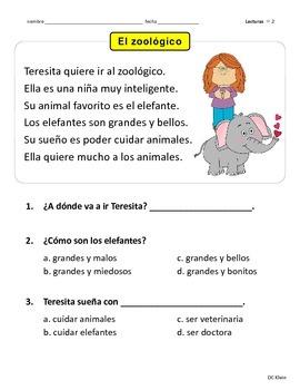 1st grade spanish worksheets