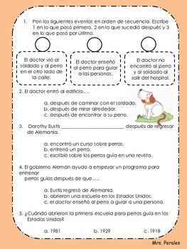 Lecturas de Comprehension en Español