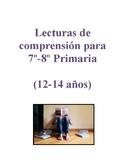 Lecturas de comprensión para 7º-8º Primaria en Español