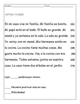 Lecturas de fluidez en español 2