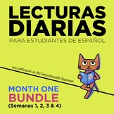 Lecturas diarias: Month #1 BUNDLE (20 readings in Spanish for beginners)