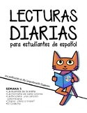 Lecturas diarias: Semana 1 - Five readings in Spanish for
