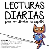 Lecturas diarias: Semana 2 - Five readings in Spanish for beginners