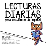 Lecturas diarias: Semana 3 - Five readings in Spanish for beginners