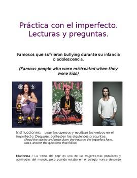 Lecturas en el imperfecto   Biografías de famosos   Imperfect Tense Readings