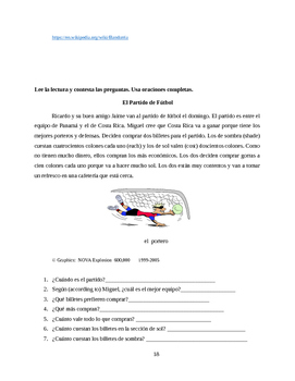 Lecturas for Beginning Level (revised)