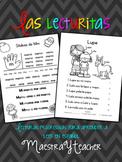 Lecturas en español las silabas y Fluidez -  Spanish Readi