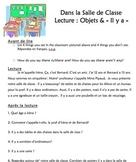 """Lecture: Dans la Salle de Classe (objets et """"Il y a"""")"""