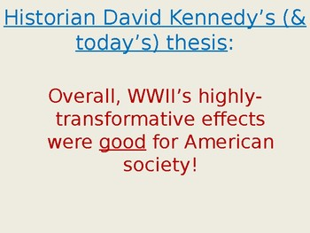 Lecture: Effects of WWII on the U.S.