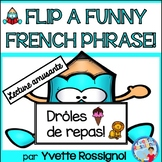 Lecture - La nourriture et les animaux - French Reading - French food Flip book