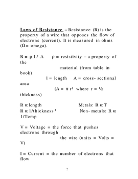 Lecture  Notes on DC Circuits