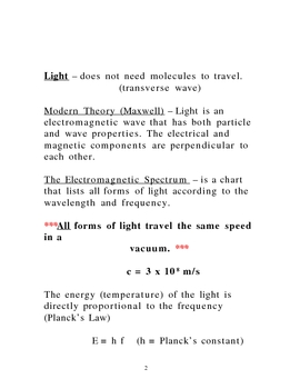 Lecture Notes on Light and Optics