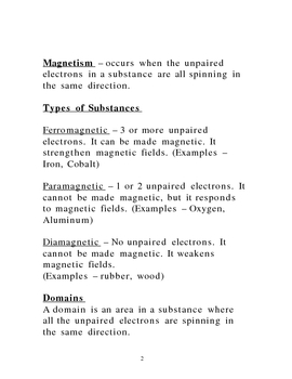 Lecture Notes on Magnetism