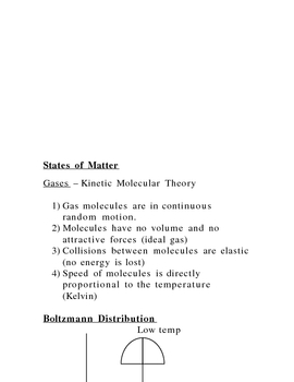 Lecture Notes on Matter and Heat
