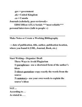 Lecture Notes The Basic Research Essay