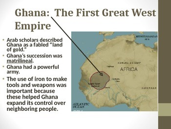 Presentation on Great West African Empires: Ghana, Mali, Songhai