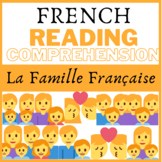 "Lecture Reading ""La famille francaise"" + activities questi"