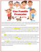 """Lecture Reading """"La famille francaise"""" + activities questi"""