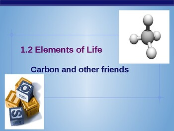 Lecture Slides 1.2- Elements of Life