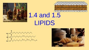 Lecture Slides 1.4 and 1.5 Lipids