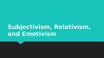 Lecture Slides, Ethics or Philosophy Class. Moral Objectivism, Cultural