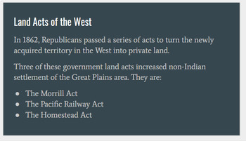 Lecture Slides/Guided Notes on US Western Expansion
