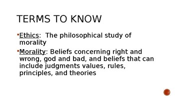 Lecture Slides, Introduction to Ethics, Basic Info, Philosophy, ppt. Intro