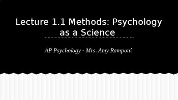 Lecture Slides - Psychology as a Science