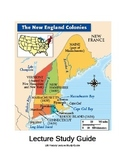 Lecture Study Guide on The New England Colonies