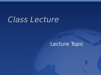 Lecture Template