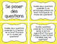 Cartes de questions de stratégies et compréhension de lecture