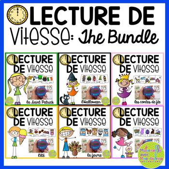Lecture de vitesse - BUNDLE (FRENCH Speed Reading Fluency Practice) - EDITABLE
