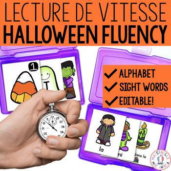 Lecture de vitesse - L'Halloween (FRENCH Halloween Fluency Practice) - EDITABLE
