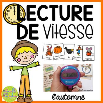 Lecture de vitesse - L'automne (FRENCH Autumn Fluency Practice) - EDITABLE
