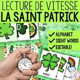 Lecture de vitesse - La Saint Patrick (FRENCH Fluency Practice) - EDITABLE