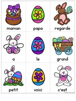 Lecture de vitesse - Pâques (FRENCH Fluency Practice) - EDITABLE