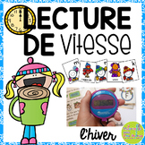 Lecture de vitesse - hiver (FRENCH Speed Reading Fluency Practice) - EDITABLE