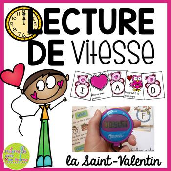 Lecture de vitesse - la Saint-Valentin (FRENCH Fluency Practice) - EDITABLE