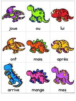 Lecture de vitesse - les Dinosaures (FRENCH Dinosaur Fluency Practice) -EDITABLE